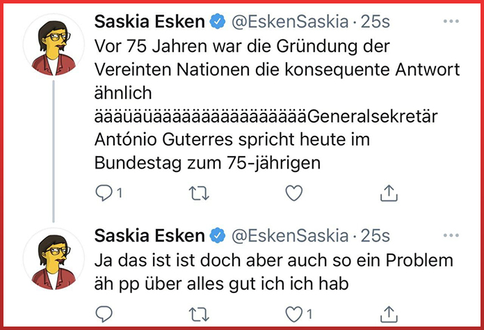 Name:  00-Tweet-Esken-Generalsekretär-Screenshot-Twitter.jpg Hits: 15 Größe:  164,3 KB